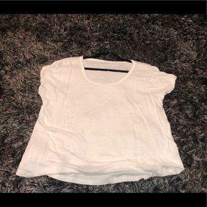 Frame White Linen Tee - XL